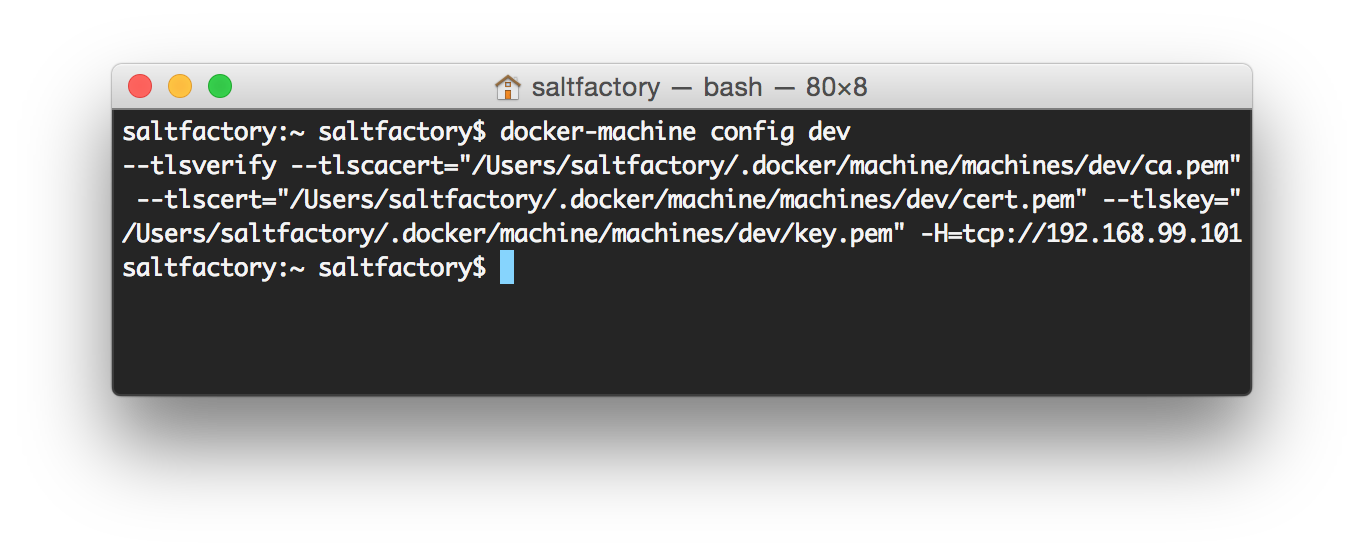 docker machine mac