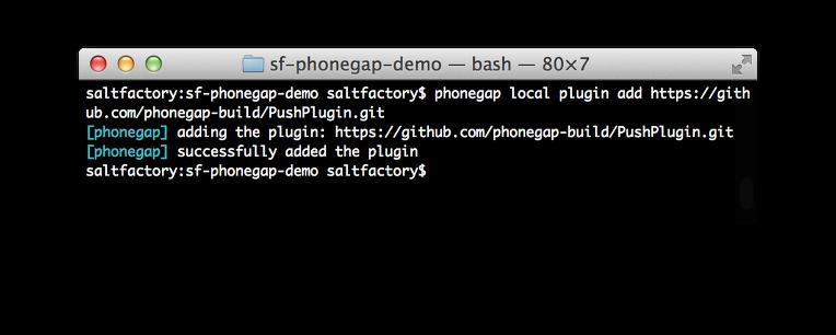 install push plugin