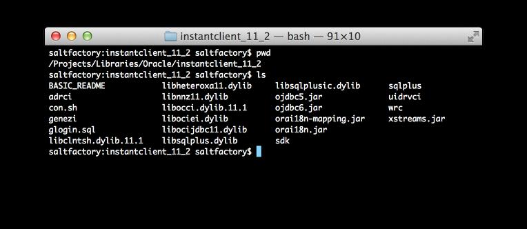 instantclient directory