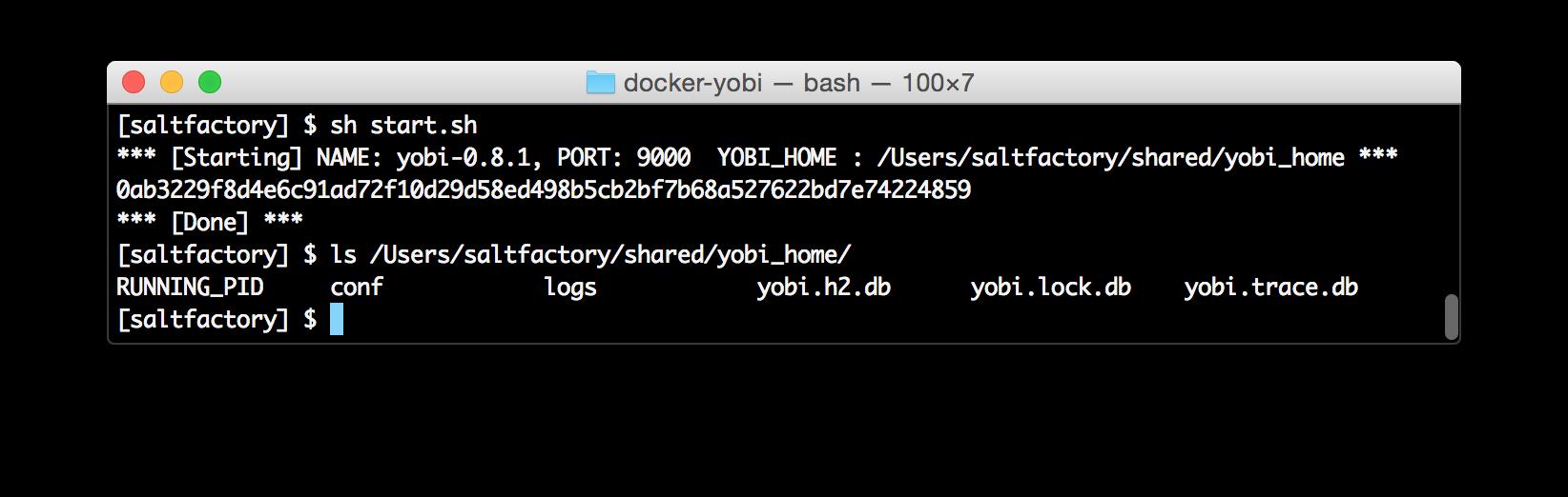 startup docker-yobi