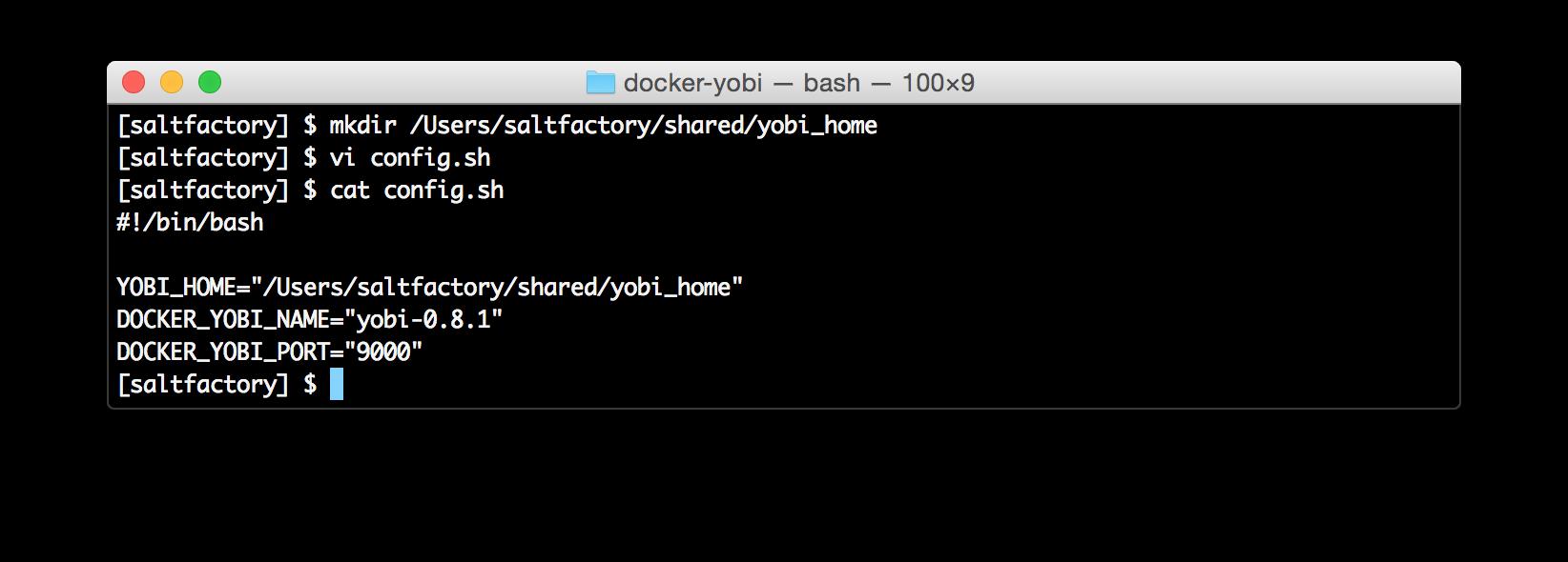 setting YOBI_HOME