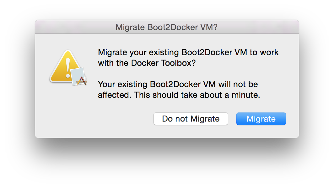 boot2docker migration alert