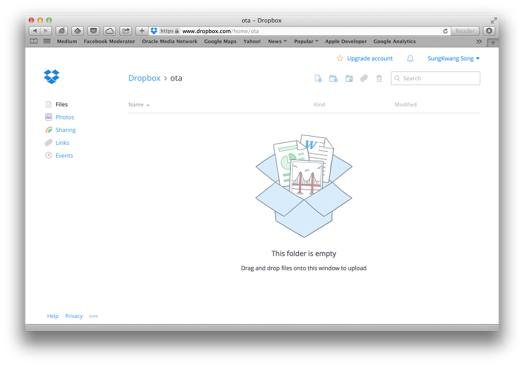 create ota directory