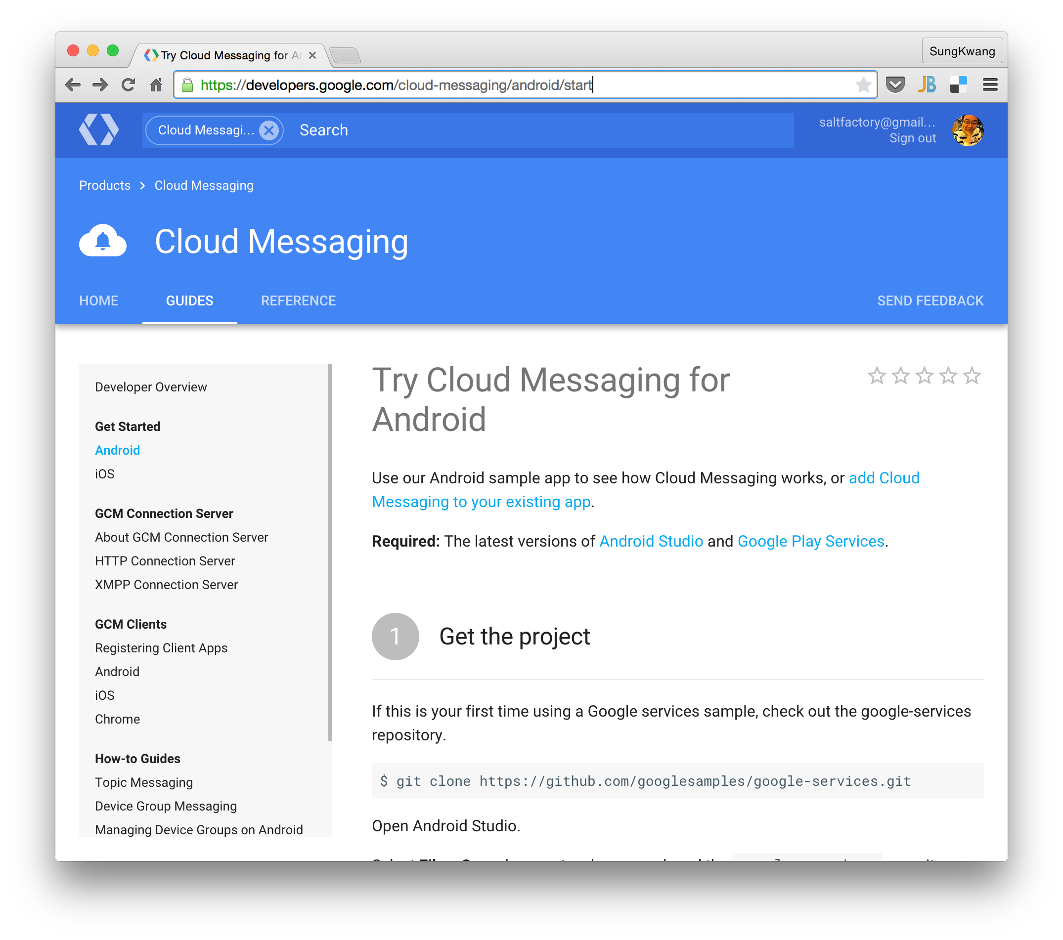 add Cloud Messasing to your exsiting app