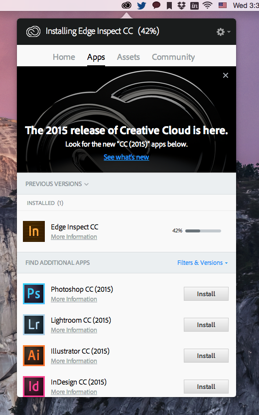 Adobe Edge Inspect 다운로드